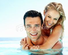Cool off. I love going swimming with my hubby (especially on a hot day like today)!