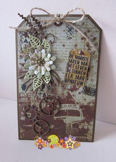Henriette Geurkink - Vintage men paperbloc card