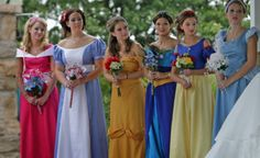 Disney Princess Bridesmaid Dresses... Because I know you've always wanted this for your wedding :)