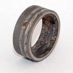 #woodring #titanium #uniqueweddingrings
