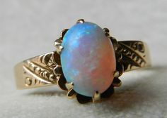 Opal Engagement Ring Victorian Opal Ring Opal by LoveAlwaysGalicia