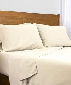 SouthShore Fine Linens Cream Six-Piece Brushed Microfiber Sheet Set Home Decor Bedding, Bedroom Decor, First Flat, Fine Linens, Flat Sheets, Sheet Sets, Hue, Pillow Cases, Mattresses