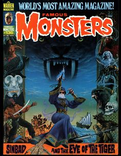 FAMOUS MONSTERS of FILMLAND Magazine Format by Warren Publications CONDITION of MAGAZINE is VERY GOOD Some very minor softness overall to covers from being read, handled and stored. Minor wear to cove