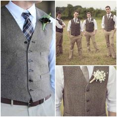 What i think the groom n groomsmen are gonna wear, all Pinterest inspired.