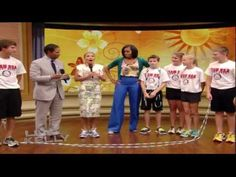 First Lady Michelle Obama surprises a Jr.High jump roping team on Live with Kelly.