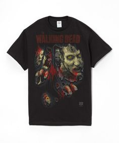 This Black & Red Ripped Through 'Walking Dead' Tee - Men is perfect! #zulilyfinds
