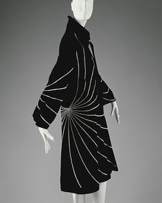 Evening coat Design House: House of Lanvin (French, founded 1889) Designer: Jeanne Lanvin (French, 1867–1946) Date: spring/summer 1927 Culture: French Medium: cotton, wool Dimensions: Length at CB: 43 3/4 in. (111.1 cm)