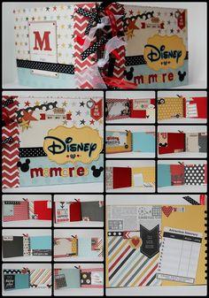 Disney Scrapbook Mini Album Premade and by 4HeartsPaperCraftCo