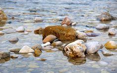 River Rocks Stone -                     ...wallpapersweb.org