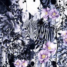 Zebra Watercolor 2015, 2016, Autumn, Desen, Design, Designer, Dijital baskı, Dress, Floral, Flowers, Metraj, Pattern, Patternbank, Print, Repeat, Spring, Summer, Textile, Trends, Winter, Women, Women tops