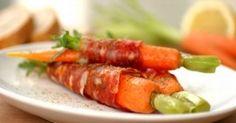 Gefesselte Bundkarotten mit Rucola