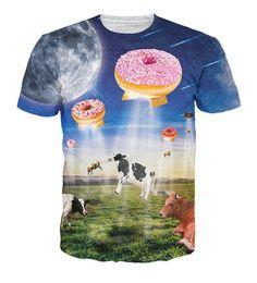 Milky UFO Donuts T-Shirt