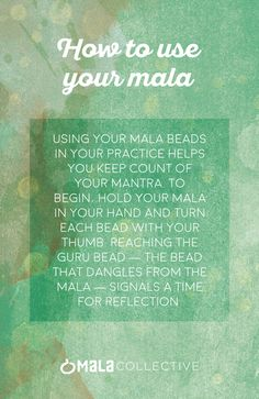 My boss noticed me counting beads whilst talking about my friend's suicide and my need to leave work.  I don't even notice I'm doing it.  Using mala beads can help with calming the breath, slowing down thoughts, and focusing attention on the present.  <3