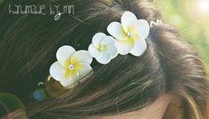 beautiful flower headband, polymer clay