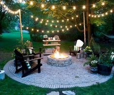 Check it out nice Brooklyn Limestone: Country Cottage DIY Circular Firepit Patio… by www.danazhome-dec… The post nice Brooklyn Limestone: Country Cottage DIY Circular Firepit Patio… by www. Fire Pit Designs, Fire Pit Backyard, Backyard Seating, Cozy Backyard, Garden Seating, Outdoor Seating, Back Yard Fire Pit, Backyard Fireplace, Romantic Backyard