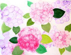 Bubble Paint Flower Hydrangeas - Fun Family Crafts