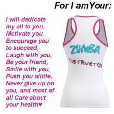My Zumba instructors are AWESOME! I plan to be AWESOME to