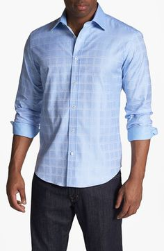 BUGATCHI Shaped Fit Sport Shirt available at #Nordstrom