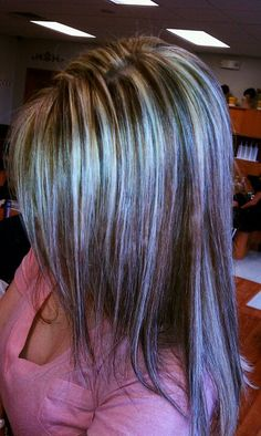 Love the various colors here. lots of blonde highlights, light browns and some darker lowlights