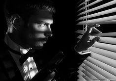 5 MUST-HAVES FOR ANY FILM NOIR HOME 1. Venetian Blinds.  This is perhaps the most iconic aspect of a classic noir scene.  The shadowy, horizontal lines will shroud your home with mystery. - See more at: http://blog.dotandbo.com/2014/07/5-must-haves-for-any-film-noir-home/#sthash.ZDPZDWfH.dpuf