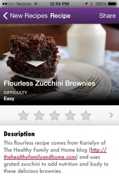 #Flourless #Zucchini #Brownies added to #Vegan Delish, the healthy cooking app for your iPhone or iPad.
