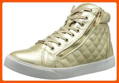 Wanted Shoes Women's Perry Fashion Sneaker, Gold, 6 M US - All about women (*Amazon Partner-Link)