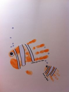 Nemo thought for family night... Maybe finding Jesus but use hand paint to display fish to go with theme...
