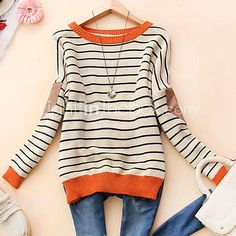 Great Comfy Stripped Sweater - pair with jeans or khaki's and booties.