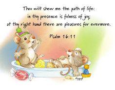 Bran Made Tags: KJV Bible Graphics - Psalm 16:11 (KJV)
