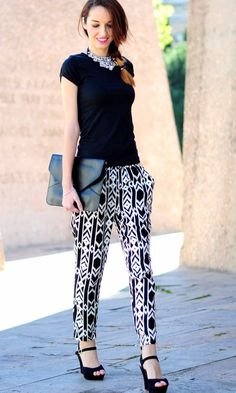 Black & white Printed Pants | black white prints | | black white prints art | | black white prints pattern |     http://www.thinkcreativo.com/
