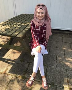 20 Ideas For Travel Clothes Muslim Hijab Style Dress, Hijab Chic, Hijab Outfit, Muslim Fashion, Modest Fashion, Niqab, Modele Hijab, Hijab Fashionista, Outfit Look