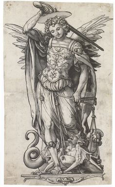 Hans Holbein the Younger - Archangel Michael Weighing Souls