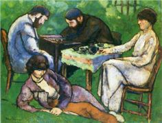 Marcel Duchamp (1887 - 1968) | Post-Impressionism | Chess Game - 1910