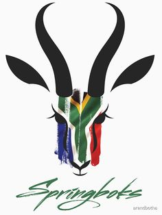 'Springboks - Rugby World Champs T-Shirt by Arend Studios African Love, African Design, African Drawings, South African Rugby, African Tattoo, Africa Flag, Lion Tattoo, African Culture, Small Tattoos