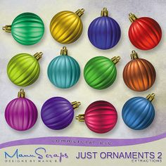 CU Just Ornaments Vol. 2 | CU/Commercial Use #digital #scrapbook design tools at CUDigitals.com #digitalscrapbooking