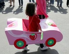 """Need to build a car?? No problem! Get the kids together and have some FUN!  This was my friend's daughter's kindergarten """"transportation""""..."""