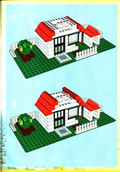 Thousands of complete step-by-step printable older LEGO® instructions for free. Here you can find step by step instructions for most LEGO® sets. Casa Lego, Modele Lego, Lego Club, Lego Games, Lego Table, Lego For Kids, Lego Modular, Vintage Lego, Lego Storage