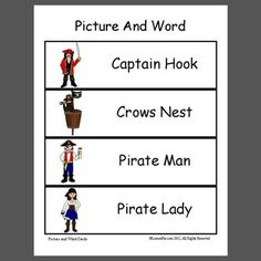 Pirate Semantics - Pinned by – Please Visit for all our pediatric therapy pins Articulation Activities, Speech Activities, Alphabet Activities, Pirate Talk, Multiple Meaning Words, Dolch Sight Words, Word Building, Pirate Theme, Speech And Language