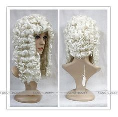 41.15$  Buy now - http://alidm4.worldwells.pw/go.php?t=32639628766 - Popular Heat Resistant hair Light Blonde Judge Barrister Court Wig Fancy Dress Costume Cosplay wig FTLG007 41.15$