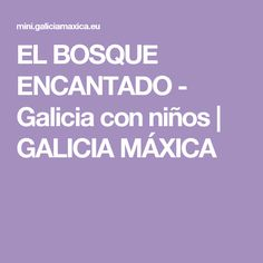 EL BOSQUE ENCANTADO - Galicia con niños   GALICIA MÁXICA