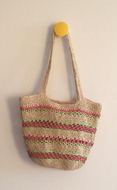 Paper raffia stripe bag. HM