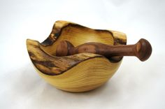 Mortar and Pestle made of Black Locust and Walnut by TreesInsideOut on Etsy https://www.etsy.com/listing/120095164/mortar-and-pestle-made-of-black-locust