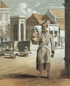 1845 a trader in Indo Dutch East Indies, Dutch Colonial, Southeast Asia, Netherlands, Photo Art, Van, Old Things, History, Illustration
