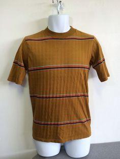 JANTZEN Shirt 60s Vintage Striped Ribbed Surf Skate Punk Original USA Size S/M #Jantzen #Ribbed
