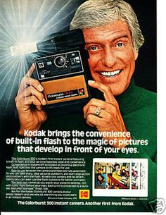 DICK VAN DYKE (in a 1978 Kodak instant camera print ad)