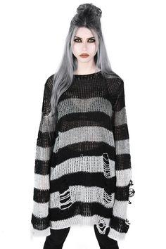 Sweater Outfits – Page 9030358371 – Lady Dress Designs Dark Fashion, Gothic Fashion, Lolita Fashion, Fashion Women, Steampunk Fashion, Cheap Fashion, Fashion Fall, Emo Fashion, Looks Kawaii