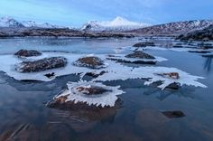 'Icescape' by George Stoyle. Taken on a freezing Scottish December morning, just after dusk, the blue light gives this Rannoch Moor icescape an even colder glow than usual. Luxury Landscaping, Landscaping Company, Jurassic Coast, 10 Picture, Landscape Photographers, Landscape Design, Countryside, Britain, Nature