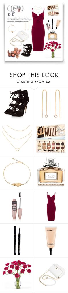 """Untitled #165"" by selena-styles-ibtissem23 ❤ liked on Polyvore featuring Christian Dior, Maybelline, Aloura London, MAC Cosmetics and Nearly Natural"