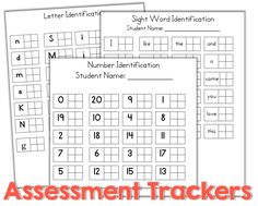 Teacher Friendly Data Collection {freebie} what a GREAT free assessment tool for kindergarten!
