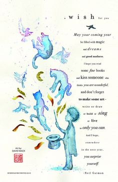 *BRAND NEW! Neil's New Year's Wish poem limited edition print by David Mack